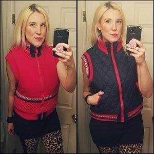 Adorable, VINTAGE, reversible vest!!Size is